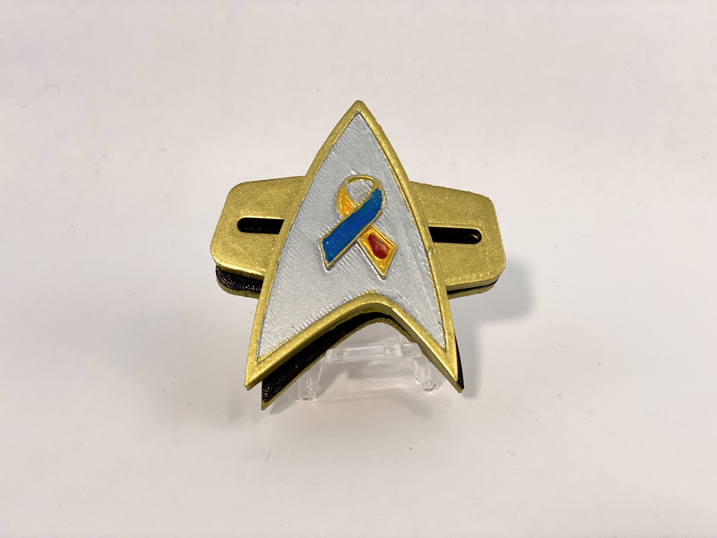 The special Starfleet #Insulin4All Division combadge