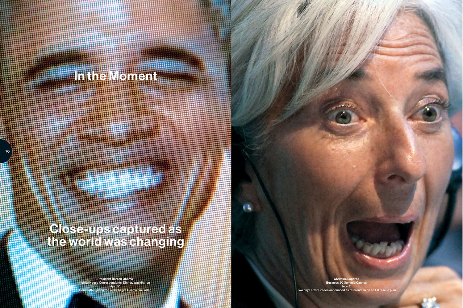 """Photo Editing  """"In the Moment"""" photo essay  Year-End Bloomberg Businessweek Special Issue"""