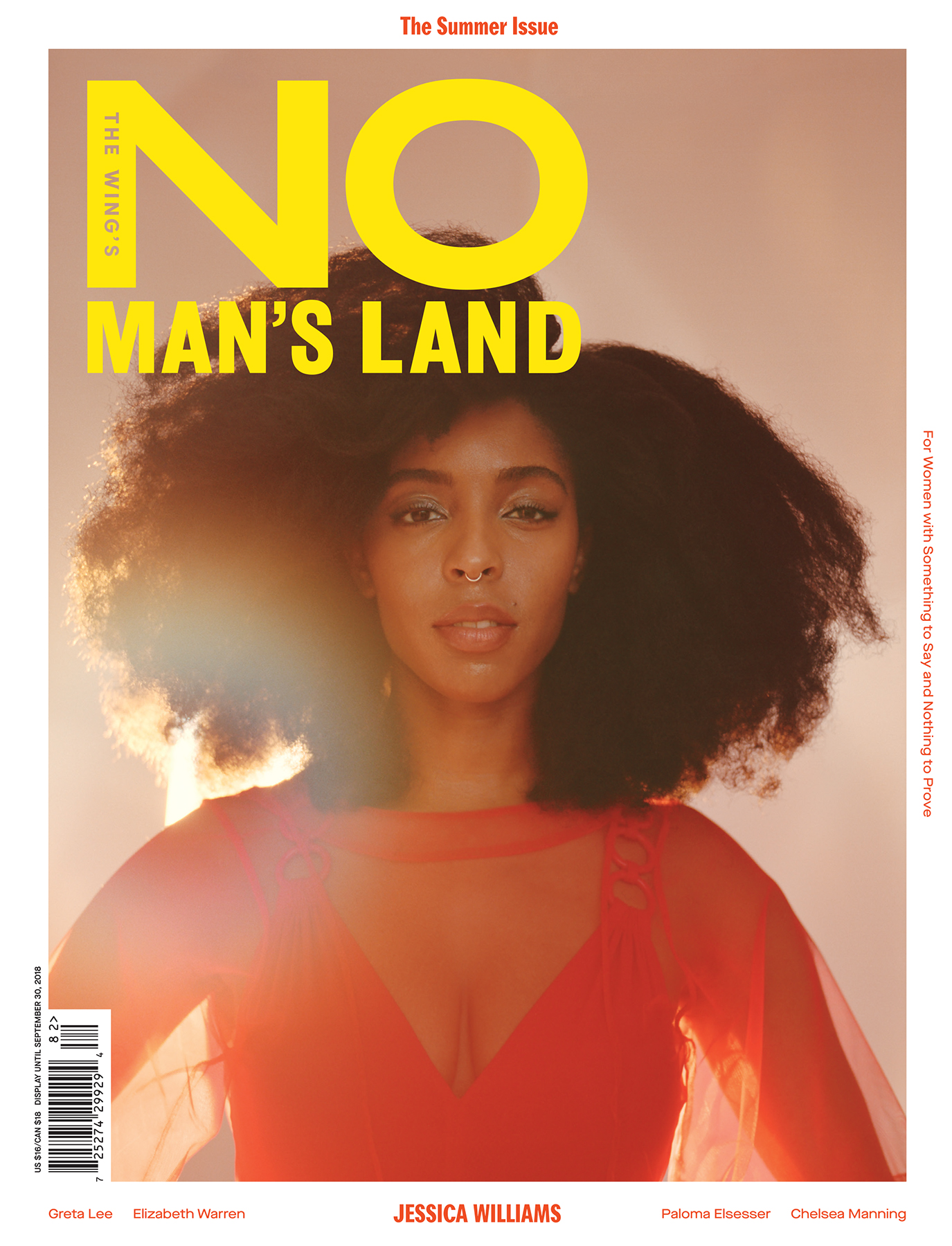 No Man's Land - Summer 2018  Photo Direction by Emily keegin  Photographer: Carlota Guerrero  Fashion: Shibon Kennedy  Production: Alis Atwell  Design: Pentagram