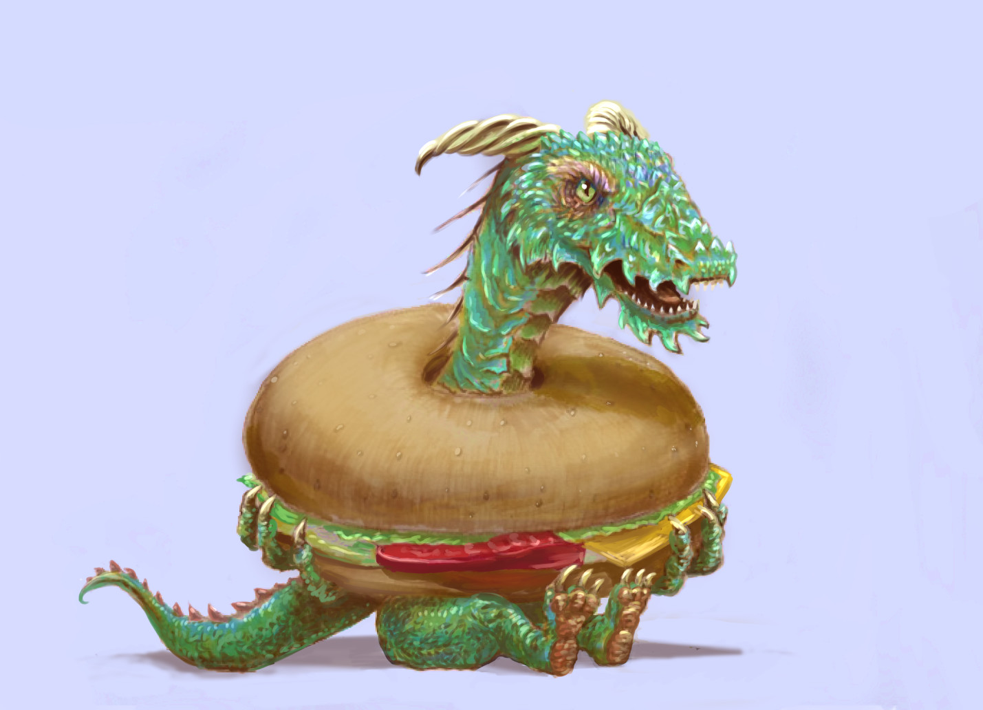 Larry, The Bagel Dragon