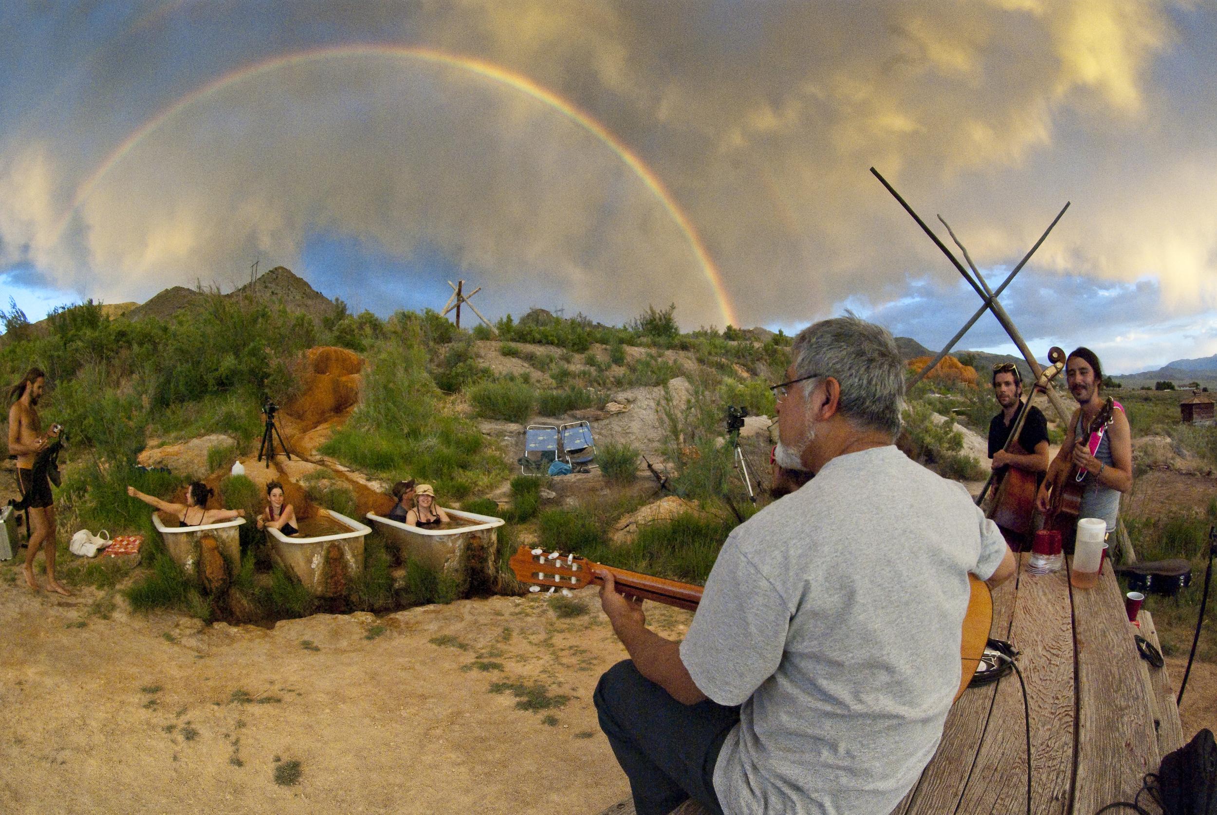 Fareed Haque & double rainbow @ Mystic
