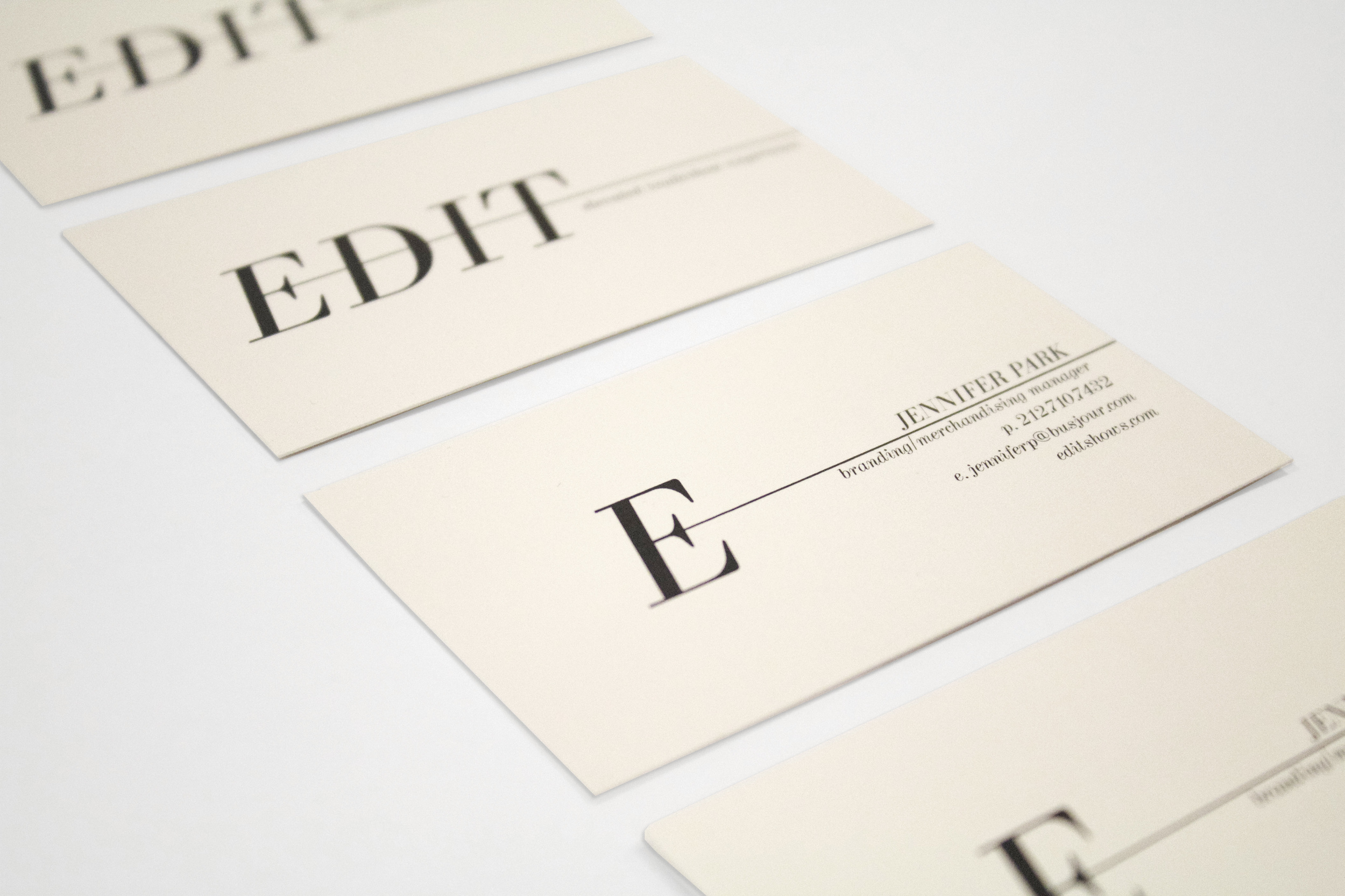 EDIT business cards - logo design