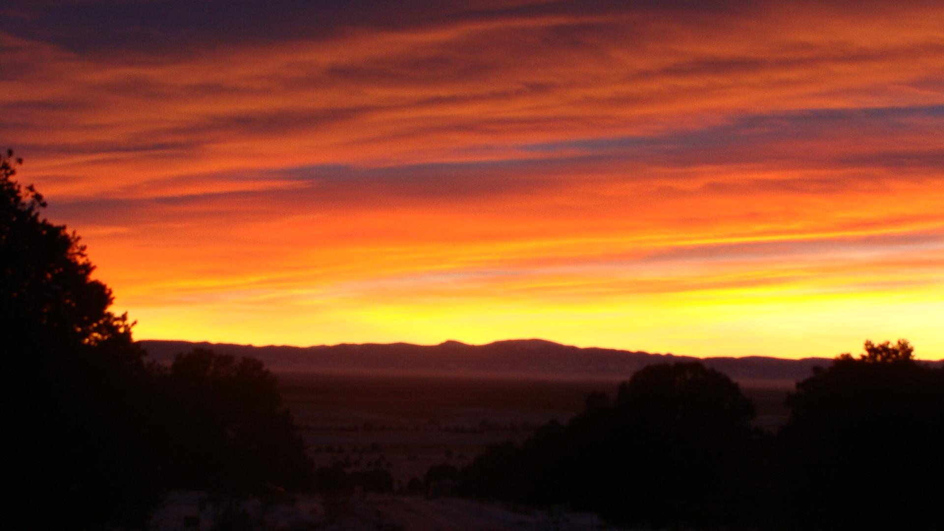 orange sunset crestone
