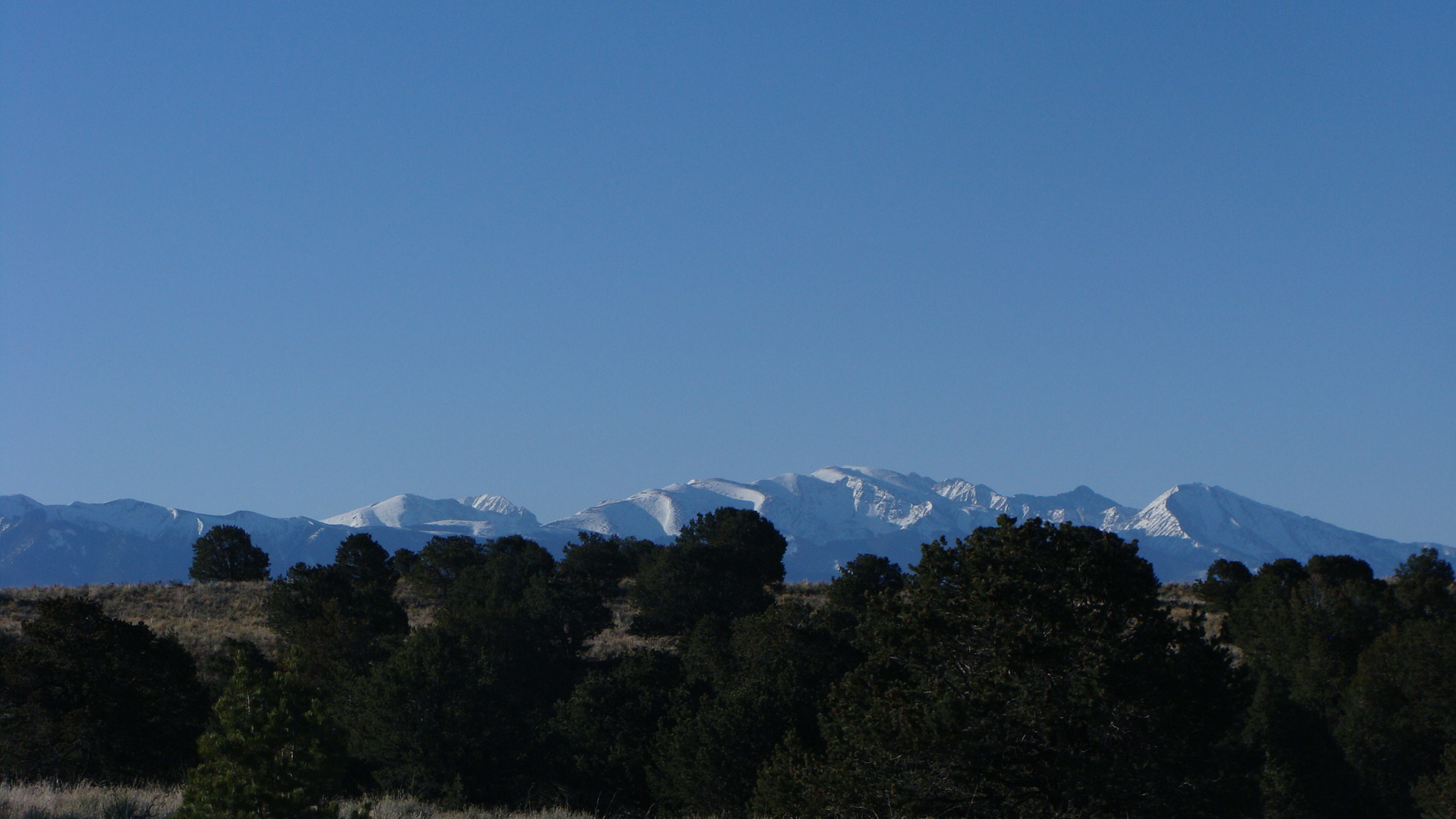 Blanca Peak showing off her fresh spring snow on a clear, crisp spring morning.