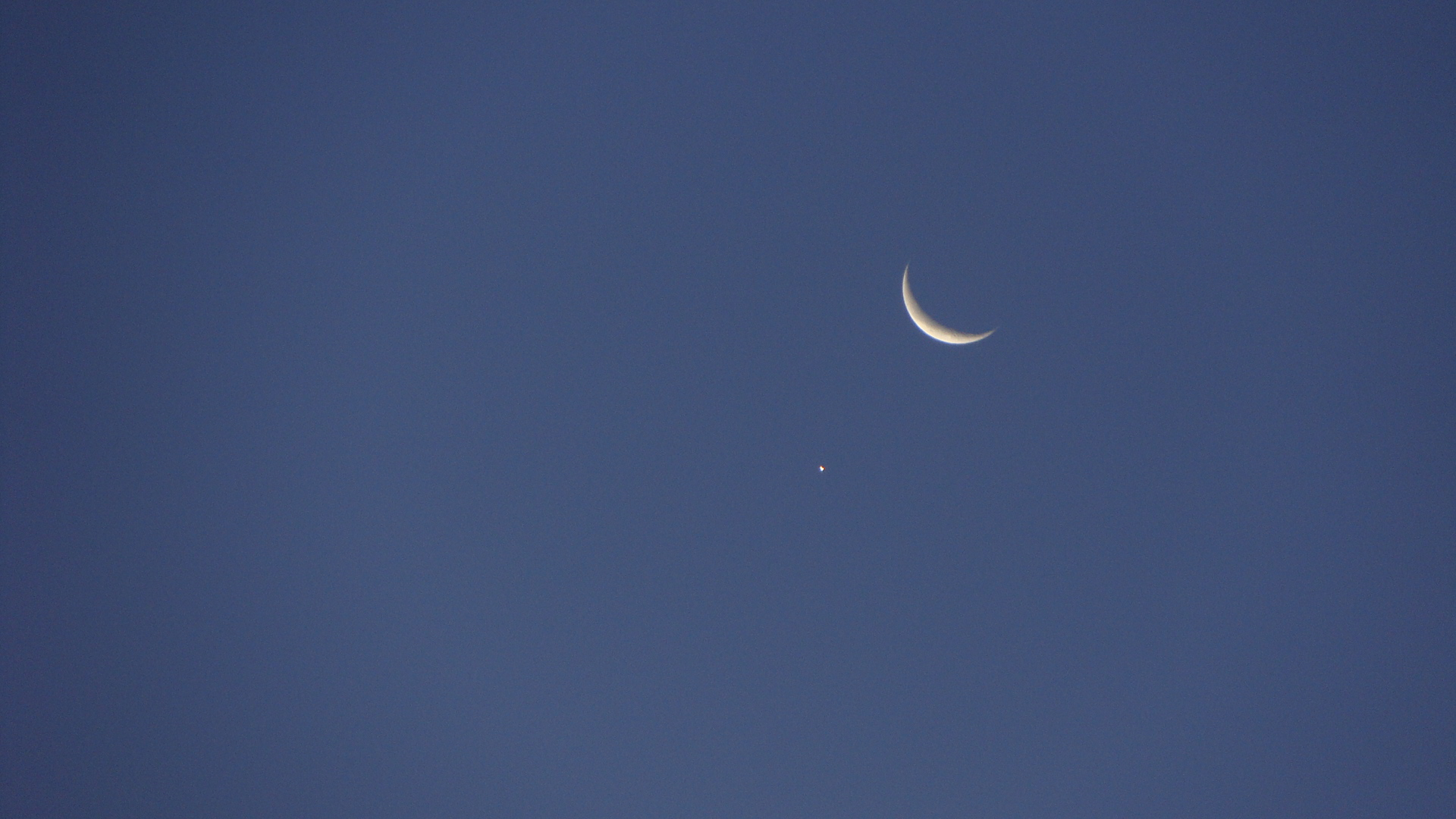 Early Morning Greeting from the Moon and Venus