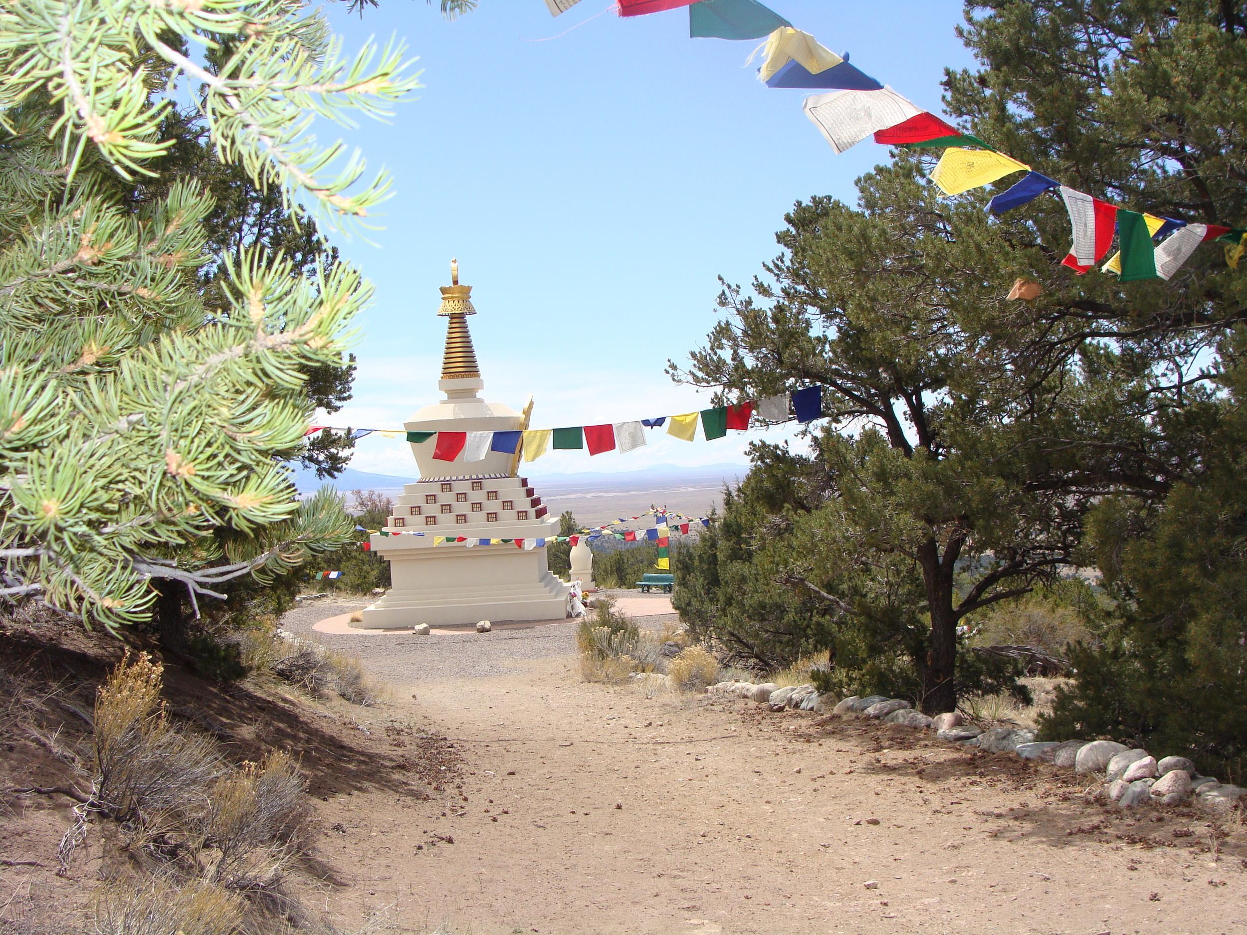 Tashi Gomang Stupa right here in the Sangre de Cristos