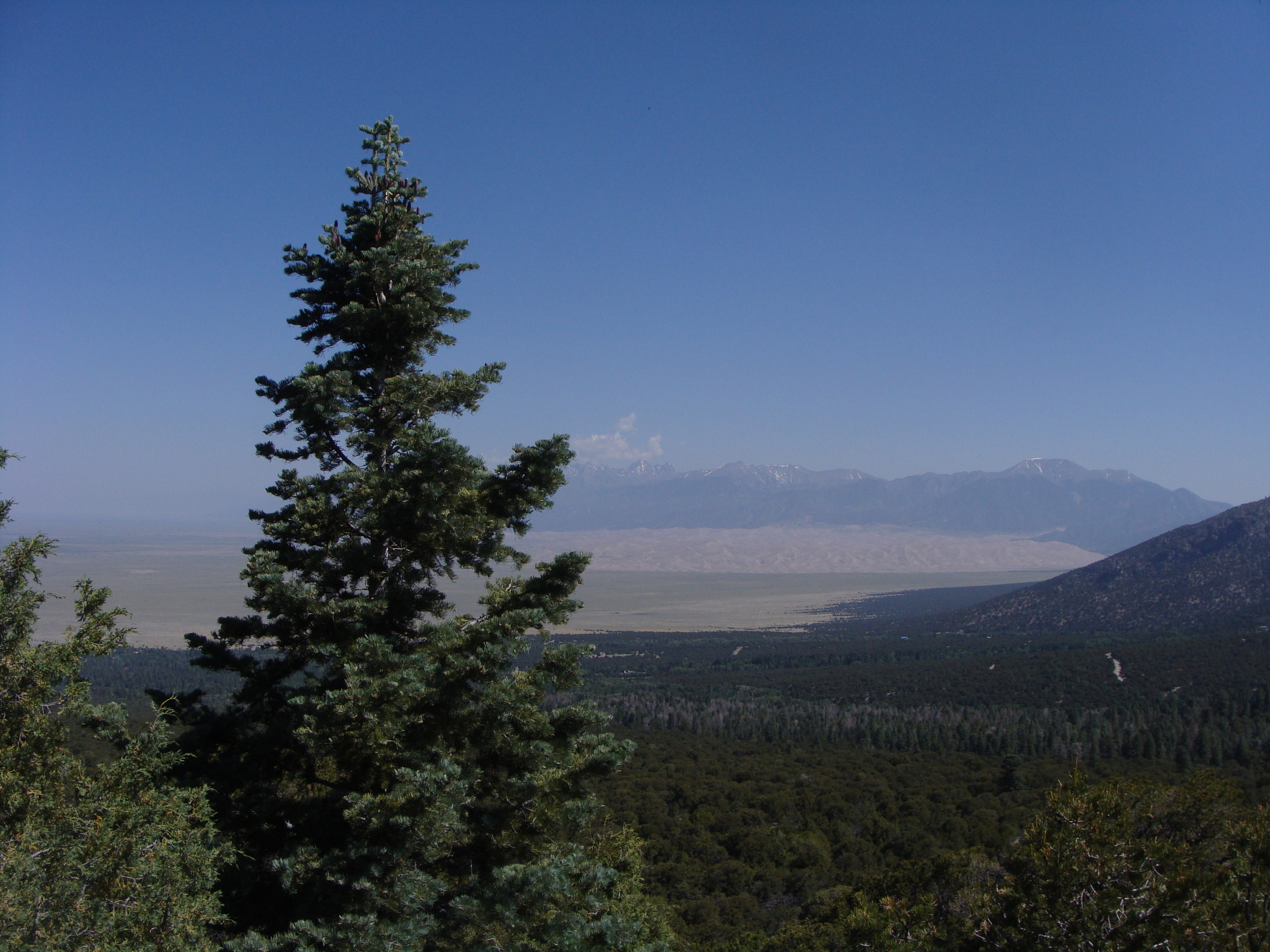 A view of the Great Sand Dunes from Blanca Peak. On a clear day you can see forever ...