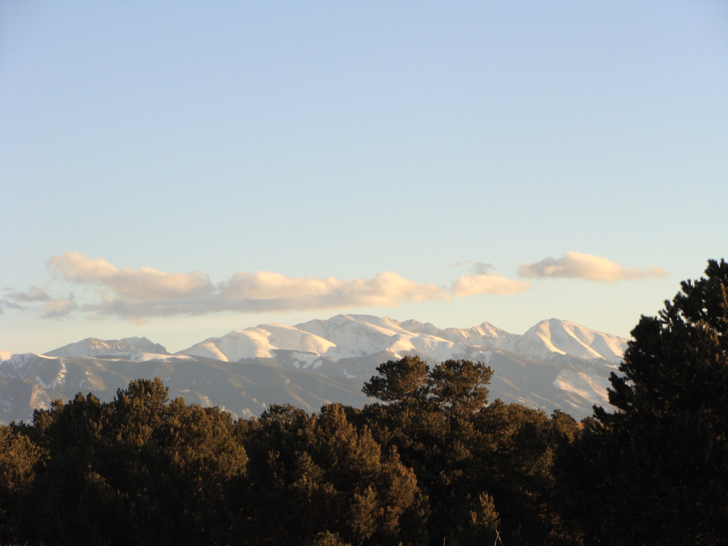 Blanca Peak shows off her winter finery on a crisp sunny date in the Sangres.
