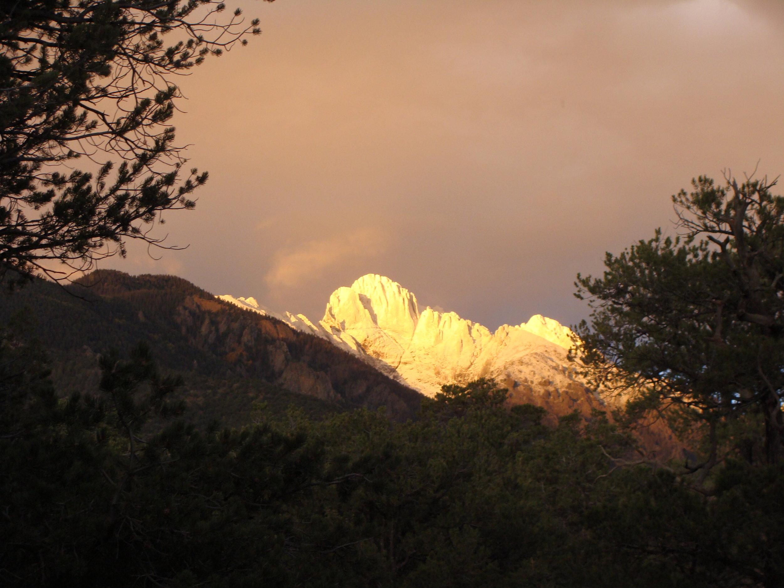 Season's first snow on the peaks