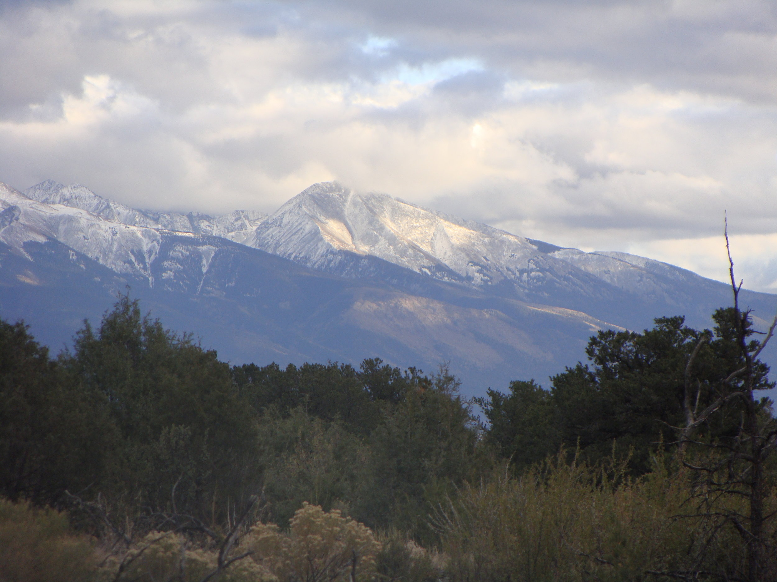 Blanca Peak, a place of peace to indigenous peoples for generations. Do you see the bear?