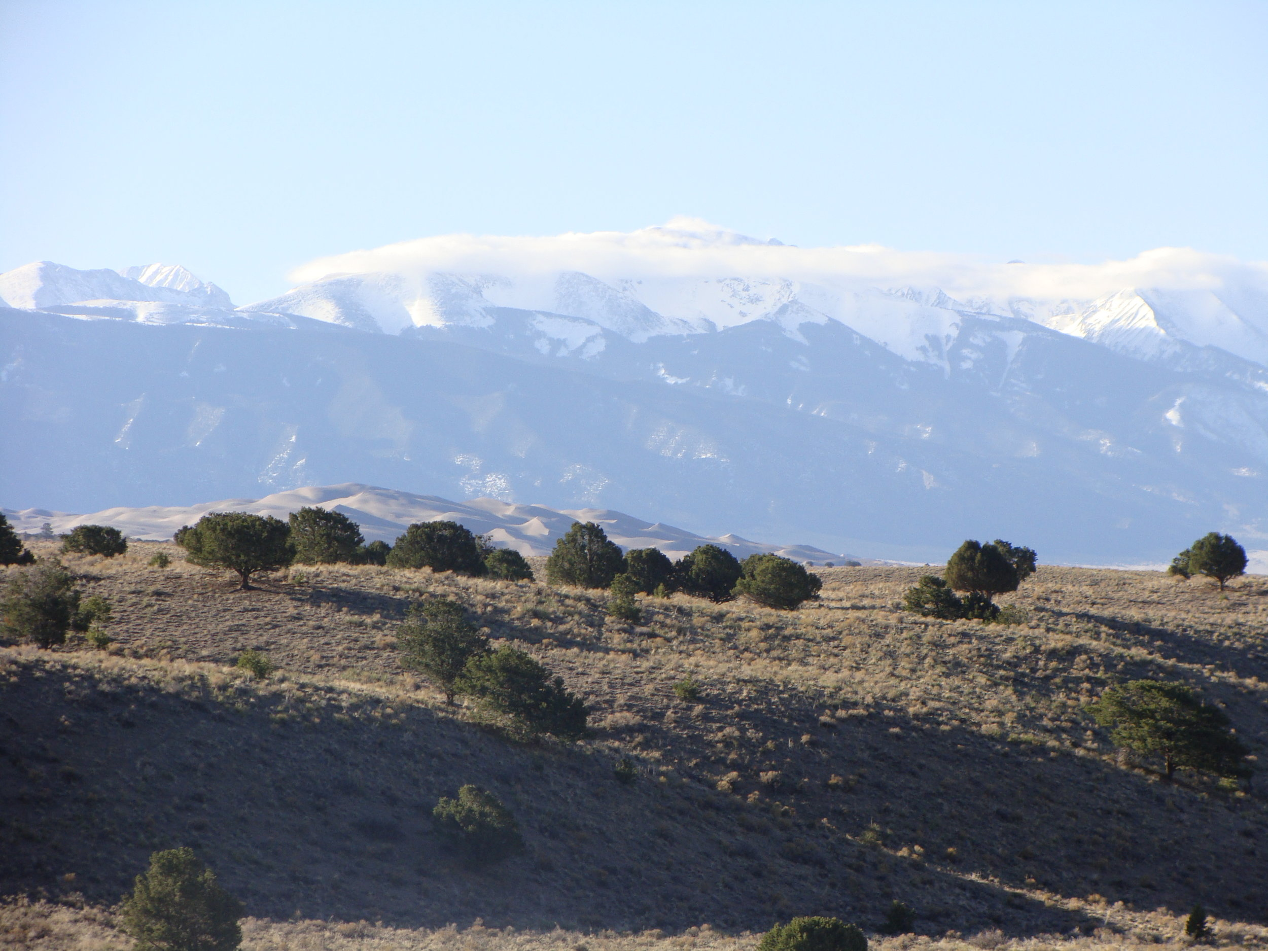 Dunes at the Great Sand Dunes National Park & Blanca Peak greet me this day!