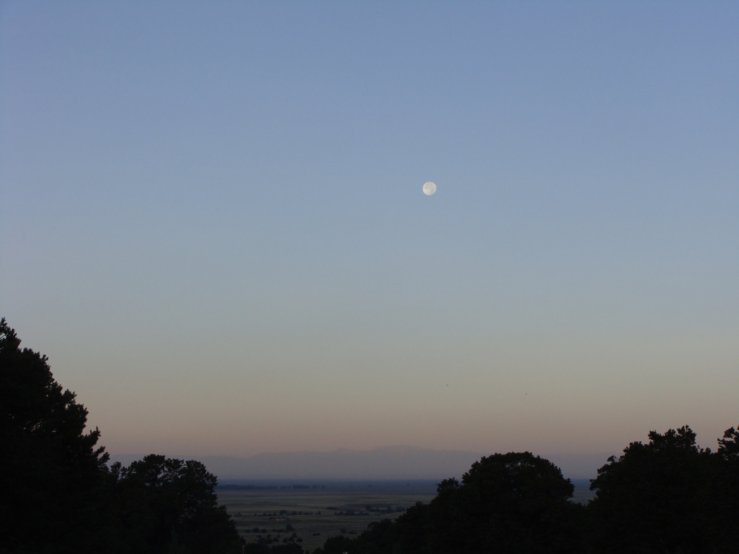 Early morning moon over the San Luis Valley
