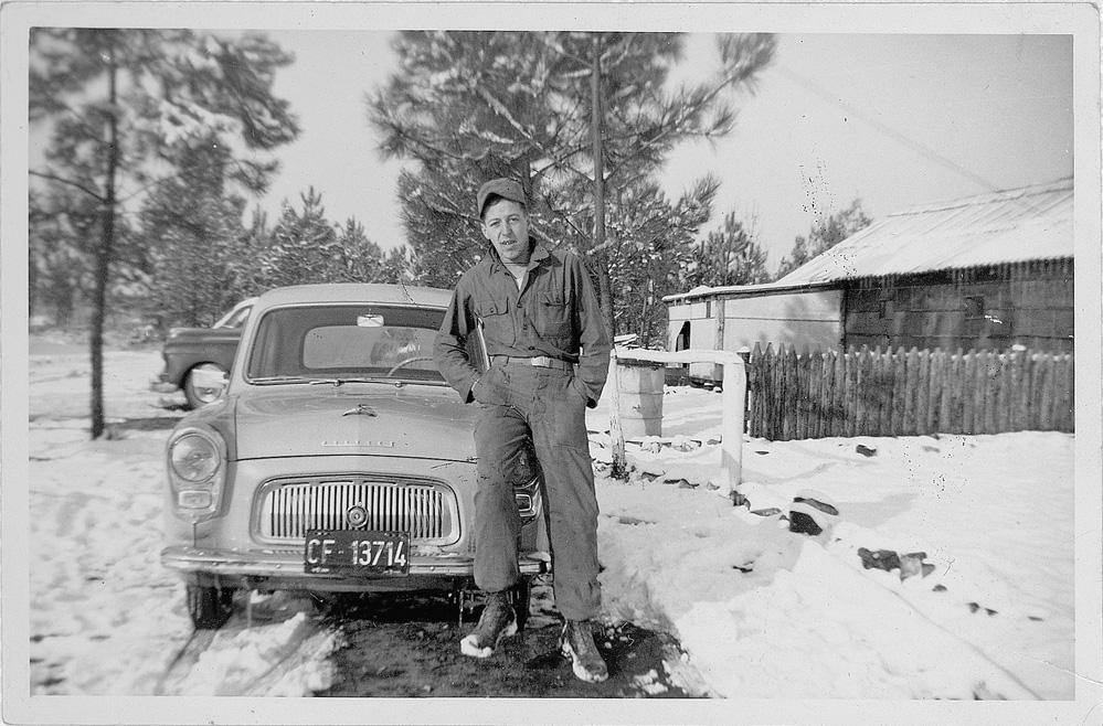 Theo circa 1956 in army uniform.