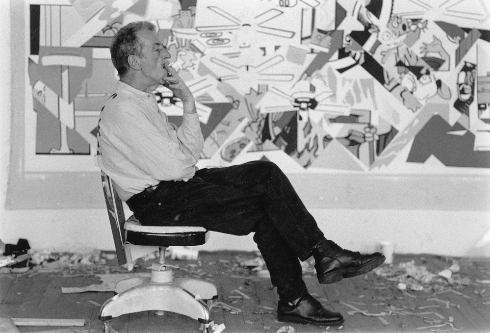 Theo in his Ybor studio, 1995, photo by Jennifer Elliot