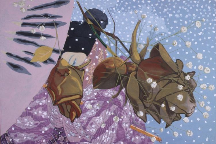 "Nature Morte, 1992, acrylic on canvas, 69"" x 101"""