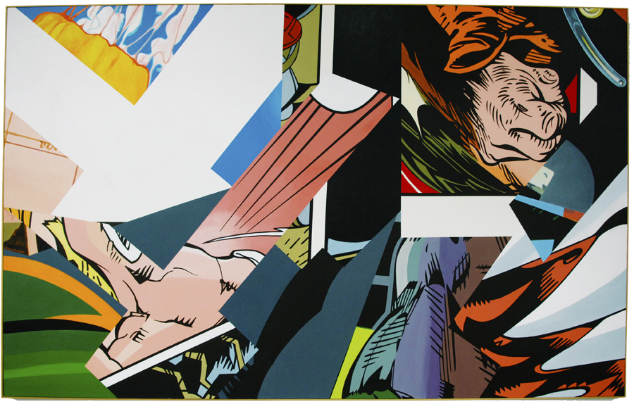 """Barking Dogs Signaled The End Of The 20th Century, 1999, acrylic on canvas, 62"""" x 100"""""""