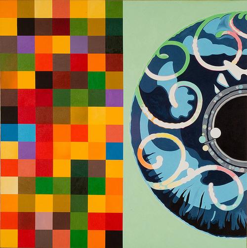 "Misinformation, 2006, acrylic on canvas, 70"" x 70"""