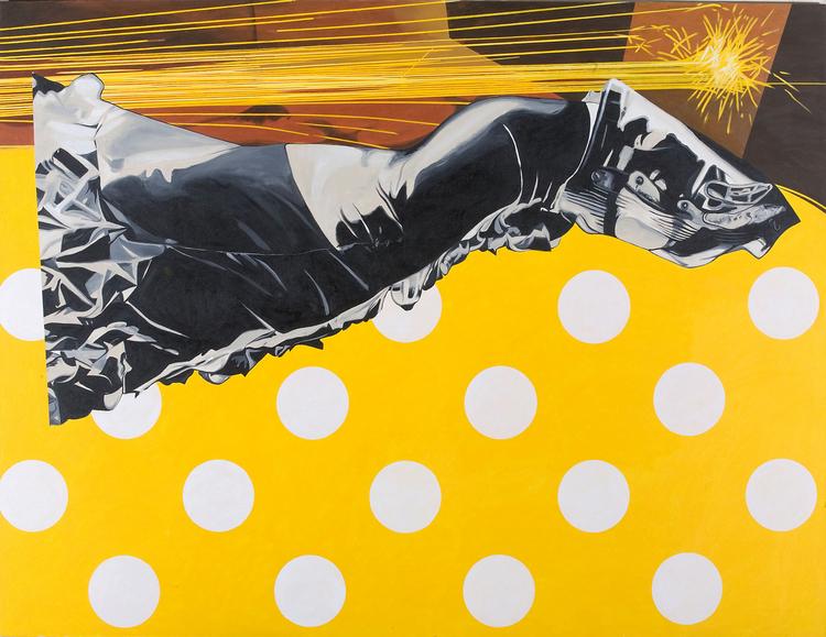 """Dragon Fire, 2010, acrylic on canvas, 78"""" x 102"""""""