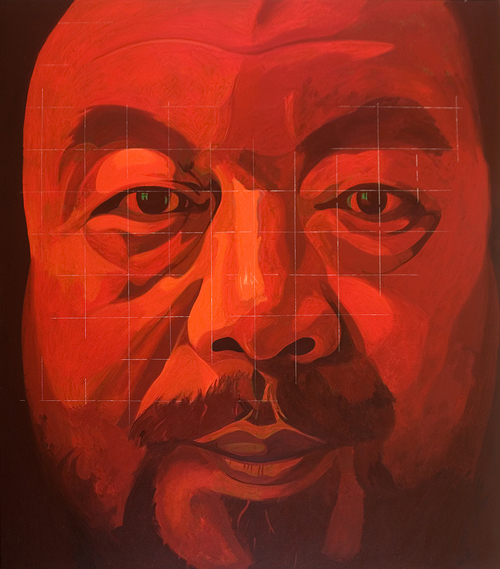 "Ai Weiwei In Contemplation Of Jade, 2012, acrylic on canvas, 102"" x 90"""