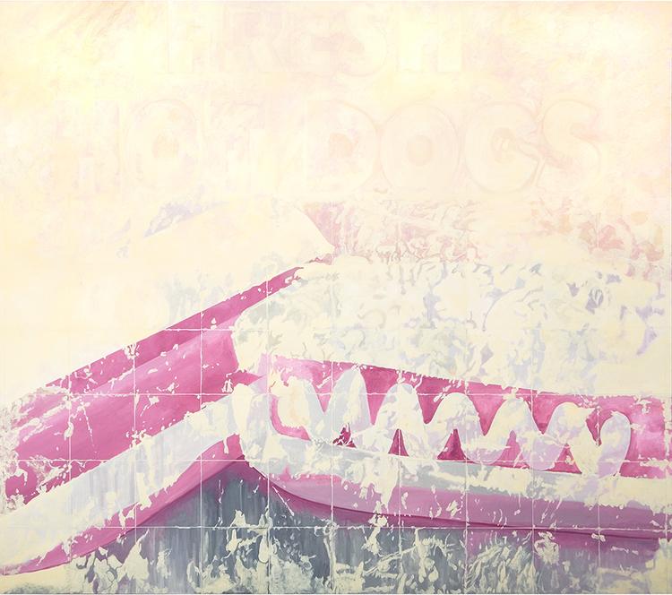 "American Fade, 2012/13, acrylic on canvas, 91 1/2"" x 91 1/2"""