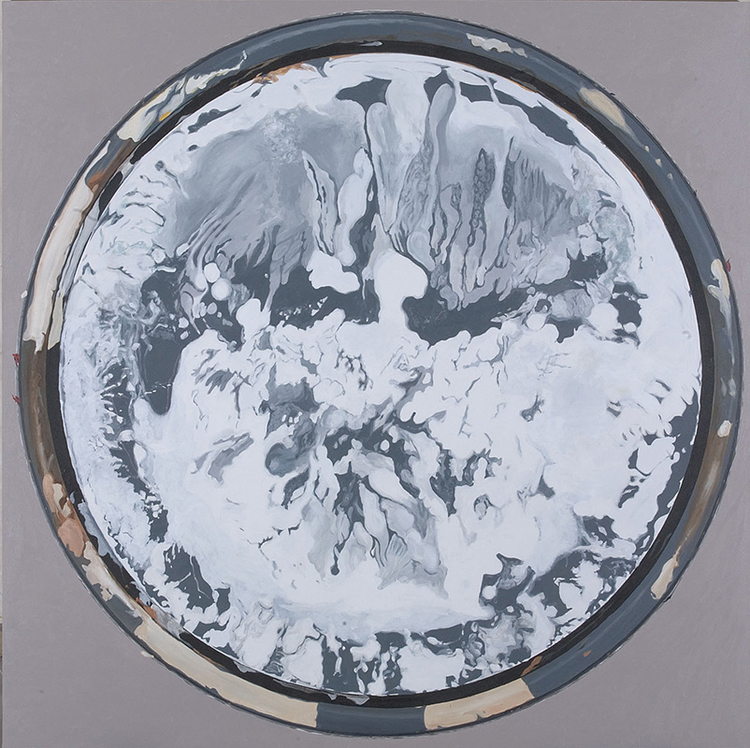 "Chinese Thaw, 2010, acrylic on canvas, 78"" x 78"""