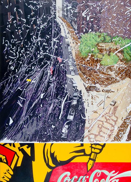 """Cross Cultural, 2009, acrylic on canvas, 92"""" x 75"""""""
