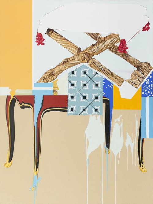 """Cut Above, 2002, acrylic on canvas, 96"""" x 72"""""""