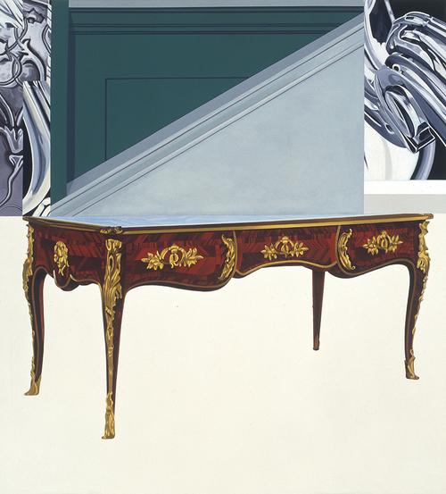 "Steps Taken, 2002, acrylic on canvas, 67"" x 60 1/4"""
