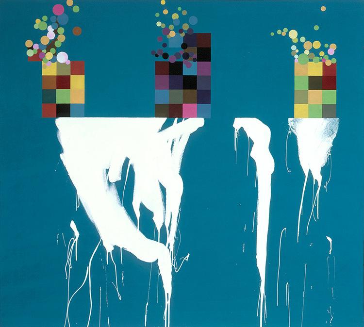 """Deadly Cocktail, 2006, acrylic on canvas, 70"""" x 78"""""""