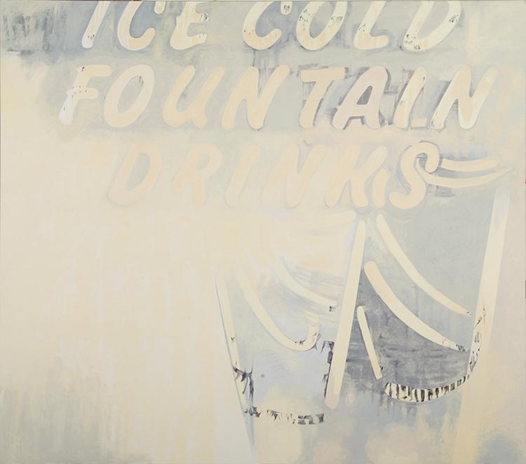 "Dried Oasis, 2012, acrylic on canvas, 91 1/2"" x 91 1/2"""