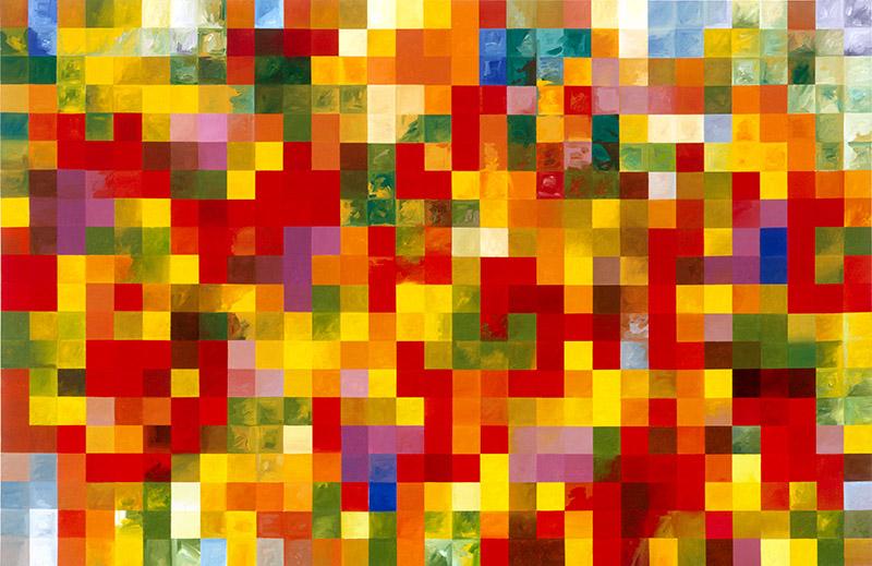 "Global Warming, 2006, acrylic on canvas, 54"" x 87"""