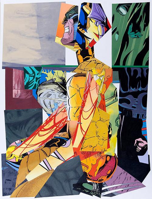 """Honey Pot, 2009, acrylic on canvas, 102"""" x 78"""""""