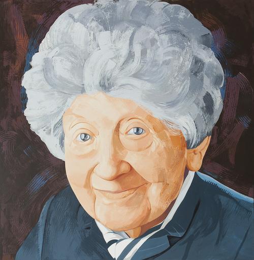 """Iliana Sonnabend, 2008, acrylic on canvas, 70"""" x 68"""""""