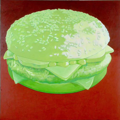 "Imperial Jade Quarter Pounder with Cheese, 2008, 56"" x 56"""