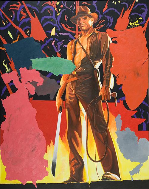 "Indy Jones, 2009, acrylic on canvas, 115"" x 90"""