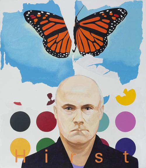 "Monarch, 2013/14, acrylic on canvas, 90"" x 78"""