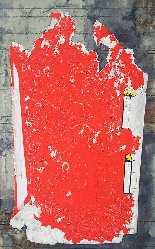 "Streets of Beijing, 2010, acrylic on canvas, 80"" x 50"""