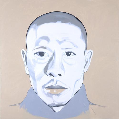 "Pyro-Junkie, 2010, acrylic on canvas, 78"" x 78"""