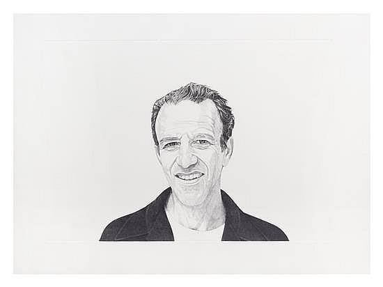 Alex Katz, 1978, stipple etching,