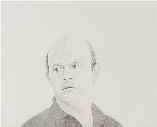 "Mentors/Jim Dine, 1976, stipple etching, 18"" x 24"""