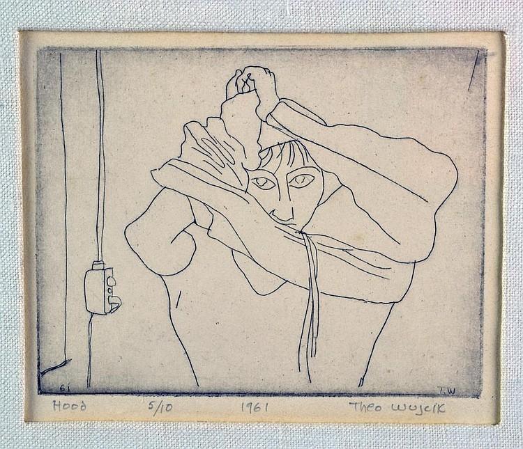 Hood, 1961, etching