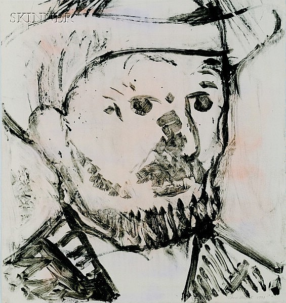 Vincent Van Gogh, 1990, transfer drawing