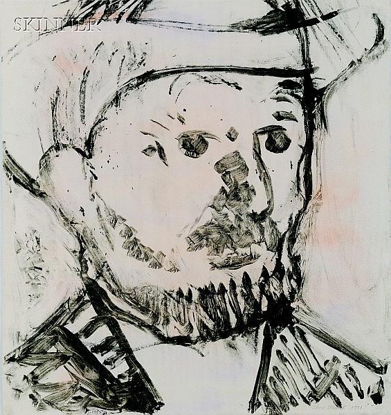 Vincent Van Gogh, 1990, transfer drawing