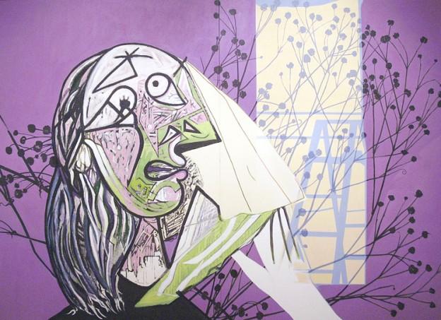 """Denial, 1990, acrylic on canvas, 101"""" x 138"""""""