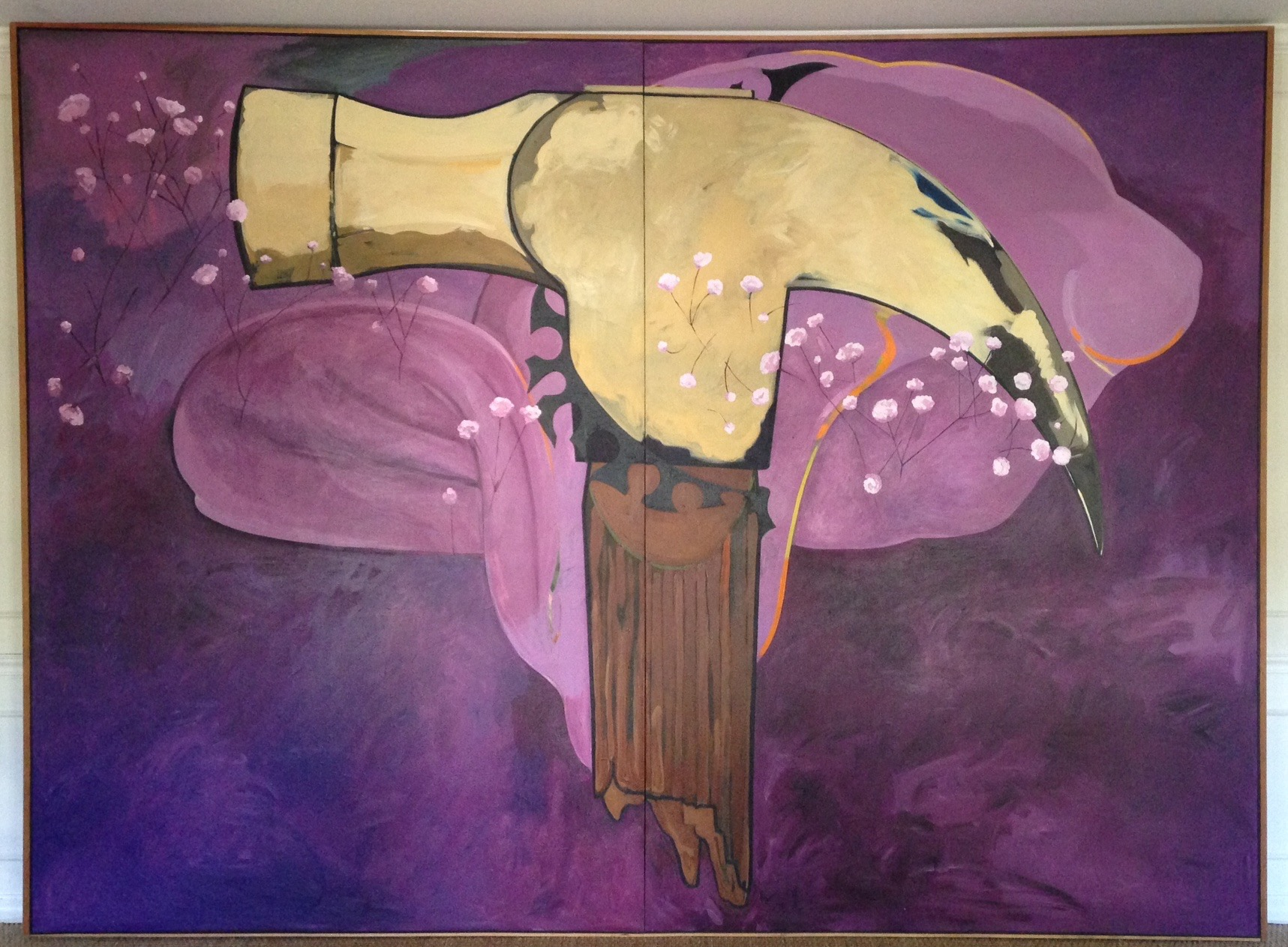 "Mapplethorpe/Cala Lily, 1990, acrylic on canvas, 102"" x 138"""