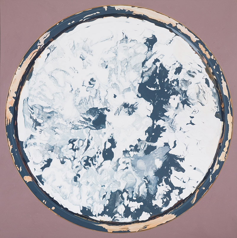 "Chisun Love Poem, 2010, acrylic on canvas, 78"" x 78"""