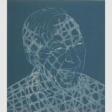 Jasper Johns, 1985, relief etching,