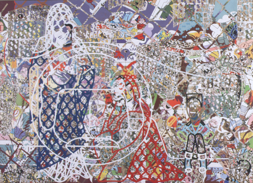 Dash To Eternity, 1995, acrylic/collage on canvas,