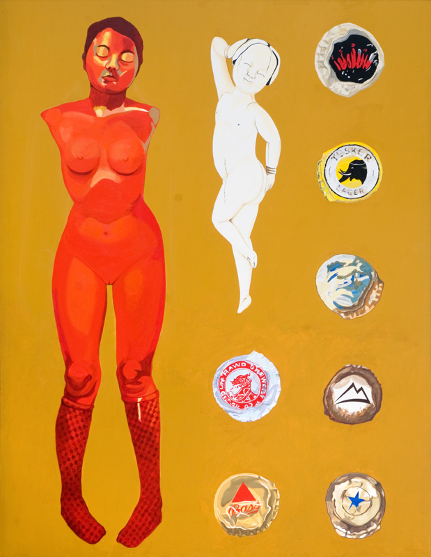 "Cinnabar Figure, 1012/13, acrylic on canvas, 102"" x 78"""
