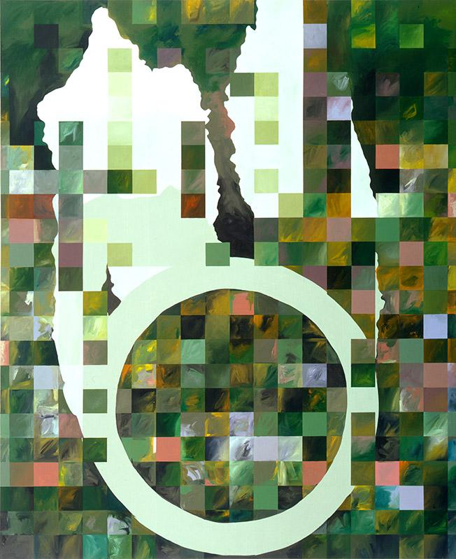 "Tumultuous Legacy, 2006, acrylic on canvas, 92"" x 75"""